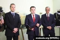 Ігар Мельнікаў, Конрад Паўлік і Славамір Місяк (зьлева направа)