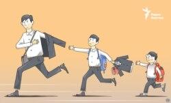 Kazakhstan - Caricature - School marathon - Galym Smagululy