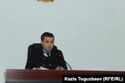 Судья Қайрат Иманқұлов. Алматы, 4 маусым 2019 жыл.