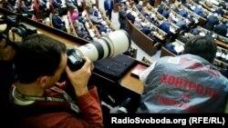 Контролери за голосуванням від «Батьківщини» в ложі преси