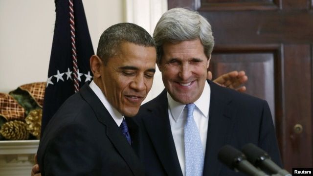 Barack Obama i John Kerry