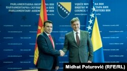 Zoran Zaev i Denis Zvizdić u Sarajevu, arhivska fotografija