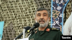 FILE - Amir Ali Hajizadeh is the commander of Iran's Aerospace Force of the Islamic Revolutionary Guard Corps.
