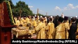 Богослужение при участии патриарха Кирилла на Украине
