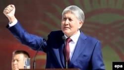 Қырғызстан президенті Алмазбек Атамбаев. Бішкек, 31 тамыз 2016 жыл.