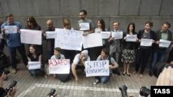 Protesta e gazetarëve në Kiev