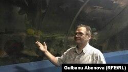 Астана океанариумының инженері Александр Колбасов. Астана, маусым, 2018 жыл.