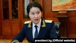 Former Kyrgyz Prosecutor-General Indira Joldubaeva (file photo)