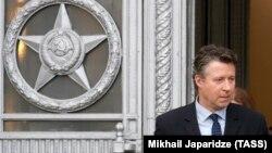 Германският посланик в Москва Геза Андреас фон Гайр на излизане от руското външно министерство