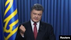 Президент Украины Петр Порошенко. Киев, 31 августа 2015 года.