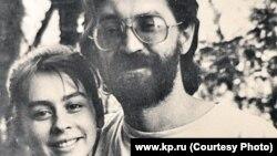 Юрий Шевчук и его жена Эльмира Бикбова, 1980-е годы