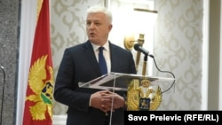 "Montenegrin Prime Minister Dusko Markovic said in Podgorica on February 14 that those warning of unrest ""in Montenegro or outside of it should keep their hands off Montenegro."""