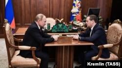 Путин и Медведев 15 января