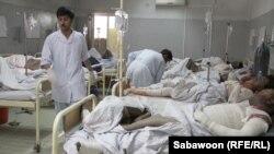 في احدى مستشفيات العاصمة الافغانية كابل.