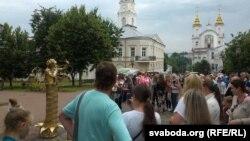 """""""Жывая статуя""""- упершыню ў Віцебску"""