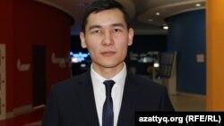 Жастар мәслихаты депутаты Серғазы Шәкібаев. Астана қаласы, 29 қаңтар 2015 жыл.