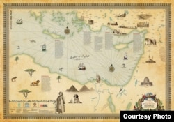 Карта путешествий Эвлии Челеби