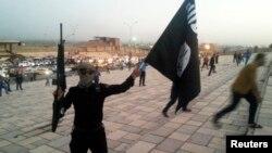 Իրաք - «Իսլամական պետության» զինյալը Մոսուլում ծածանում է իրենց դրոշը, հունիս, 2014թ․