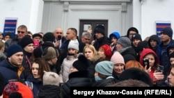 Митинг протеста в Кемерове