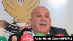 امين عام وزارة البيشمركة جبار ياور متحدثا في اربيل الاحد 5 آب 2012