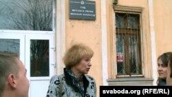Lawyer Tamara Sidarenka (center, in file photo)