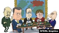 Karikaturë nga takimi në Minsk