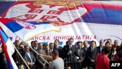 Српскиот вицепремиер Александар Вучиќ денеска на митинг во Грачаница