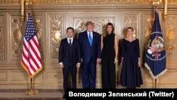 Президент и первая леди Украины Владимир Зеленский и Елена Зеленская вместе с президентом и первой леди США Дональдом Трампом и Меланией Трамп в Нью-Йорке