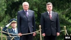Претседателите на Македонија и на Чешка, Ѓорге Иванов и Вацлав Клаус