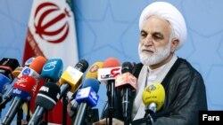 Judiciary spokesman of the Islamic Republic, Gholamhossein Mohseni Ejei, May 27, 2018.