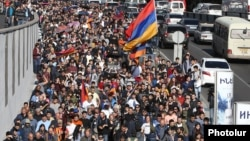 Протесты в Ереване, 14 апреля 2018 г.