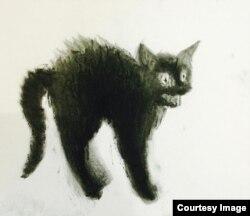 Рисунок Никиты Кадана для акции #CatsForTundra