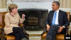 Меркель и Обама на переговорах в Вашингтоне