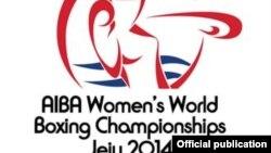 Логотип проходящего в Южной Корее чемпионата мира по боксу среди женщин.