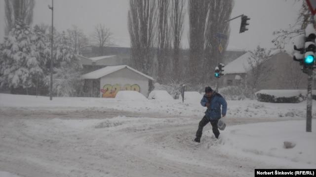 Sneg u Novom Sadu, 9. decembar 2012.
