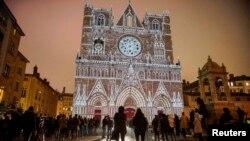 Pamje nga qyteti Lion në Francë