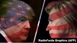 АҚШ президенті болуға үміткерлер Дональд Трамп пен Хиллари Клинтон. (Көрнекі сурет)