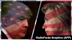 Trump (majtas) dhe Clinton