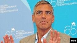 Джордж Клуни на 65-м Венецианском Кинофестивале, 27 августа 2008