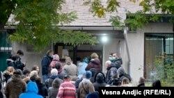 Redovi u COVID ambulanti u Zemunu, Beograd, Srbija, novembar 2020.