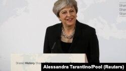 Baş nazir Theresa May sentyabrın 22-də Florensiyada çıxış edib