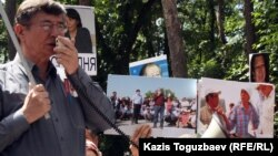 Оппозициялық саясаткер Жасарал Қуанышәлин. Алматы, 31 мамыр 2012 жыл.