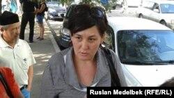 Алматылық белсенді Дильнар Инсенова.
