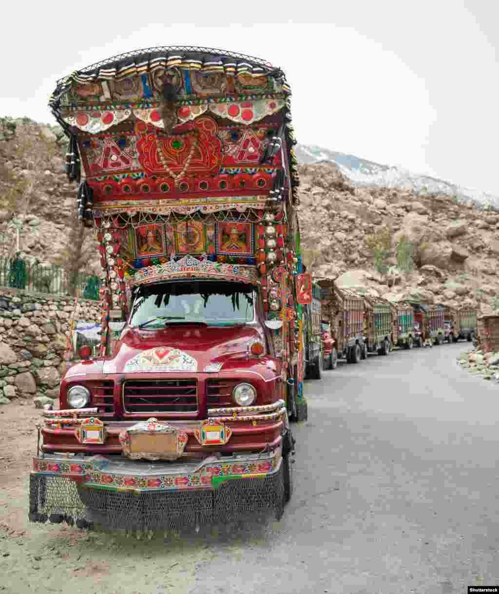 Aerodynamics take a backseat to aesthetics on Pakistan's highways.