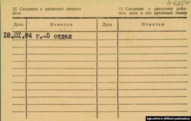 Обратная сторона карточки митрополита Рижского Александра (Кудряшова)