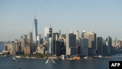 Вид на Манхэттен, престижный район Нью-Йорка. 13 сентября 2016 года