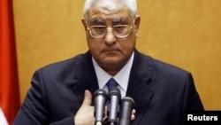 Новый действующий президент Египта Адли Мансур