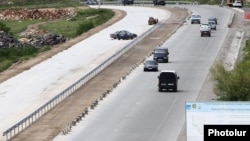 Armenia - A highway west of Yerevan is expanded and upgraded by a Spanish firm, 15May2015.
