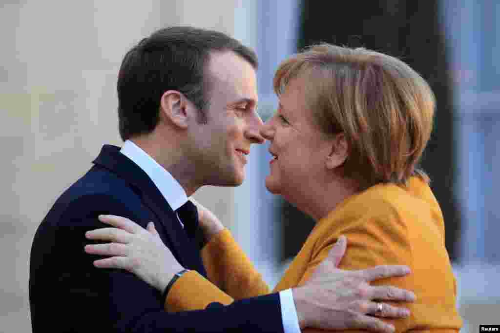 ФРАНЦИЈА - Францускиот претседател Емануел Макрон изјави дека би ја поддржал германската канцеларка Ангела Меркел кога таа би сакала да биде на чело на Европската комисија.