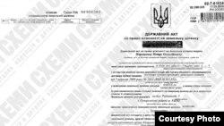 Dokument o Porošenkovo vlasništvu zemljišta u centru Kijeva